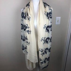 ABS Allen Schwartz embroidered pashmina scarf